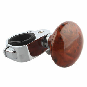 Brown-Hand-Control-Steering-Wheel-Power-Car-Grip-Spinner-Knob-Handle-Aid-Ball