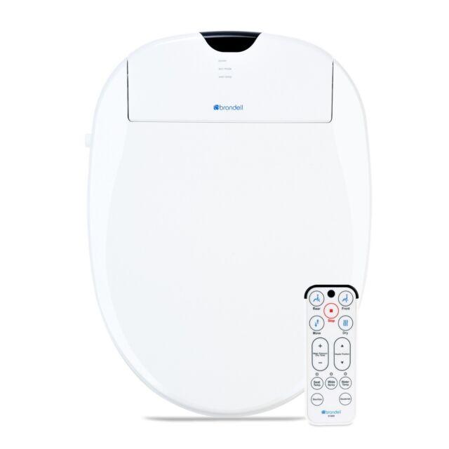 Brondell Swash Cl510 Ew Plastic Elongated Slowclose Heated Bidet Toilet Seat For Sale Online Ebay