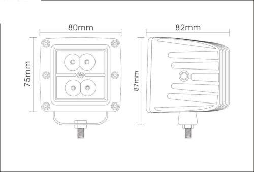 "Set 24W LED Work Light Square Flood 3/"" Cube Pods Offroad White//Amber//Strobeflash"