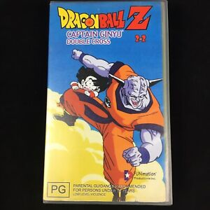 DRAGONBALL-Z-CAPTAIN-GINYU-DOUBLE-CROSS-2-2-Pal-Vhs-Video-Tape