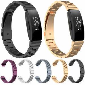 Edelstahl-Armband-Uhrenarmband-Strap-Ersatz-Band-fuer-Fitbit-Inspire-amp-Inspire-HR