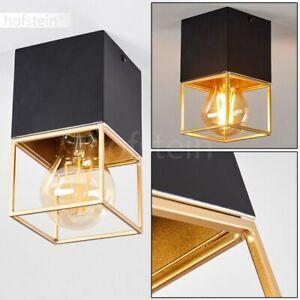 Decken Lampen schwarz//gold Flur Leuchten Vintage Wohn Schlaf Zimmer Beleuchtung