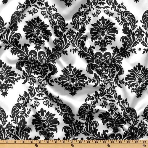 50 Yd (environ 45.72 m) 60  en Damas Imprimé Satin Tissu 100% polyester Charmeuse spectaculaire vente