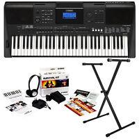 Yamaha Psr-e453 Portable Keyboard Key Essentials Bundle on sale