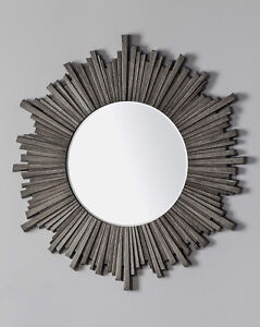 CASA SHABBY CHIC MIRROR VINTAGE WEATHERED FINISH WALL MOUNTED HOME DECOR