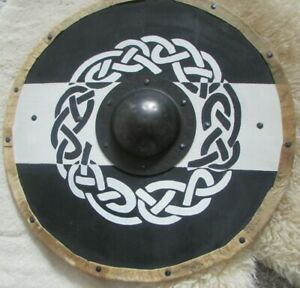 Black and white celtic knot Medieval shield