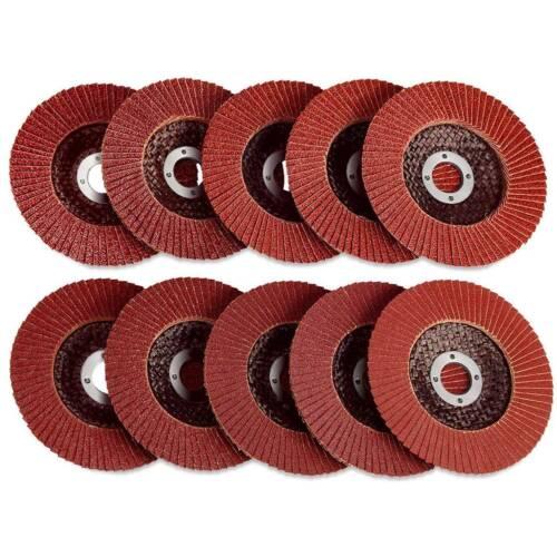 "50PC FLAP DISCS 4.5/"" 115mm SANDING GRIT GRINDING WHEELS 60 Grit Angle Grinder"