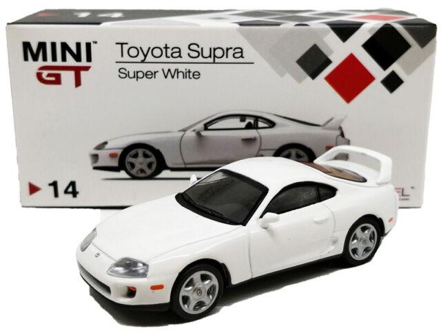TSM MINI GT 1//64 TOYOTA SUPRA JZA80 DIECAST MODEL CAR WHITE  MGT00014
