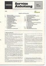 Grundig Service Anleitung Manual HiFi Receiver 20   B354