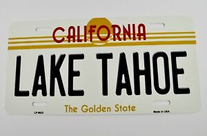 USA Auto Nummernschild License Plate Deko Blechschild California Lake Tahoe
