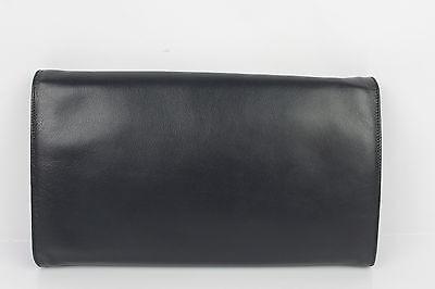 Clutch Tasche CLAUDE GERARD Paris Leder Mitternachtsblau Neuer Zustand