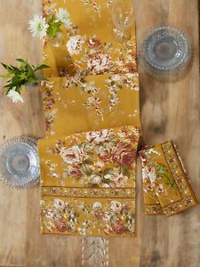April Cornell Table Runner Cottage Rose 13x72 Nwt 100