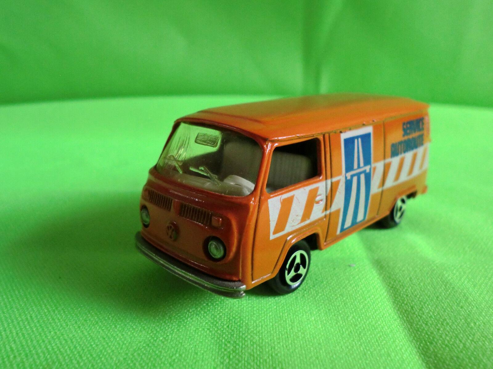 MAJORETTE   VW BUS 244 -  SERVICE AUTorUTE  -     RARE SELTEN IN GOOD CONDITION
