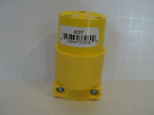 Cooper Wiring 4227 Yellow Electrical Connector