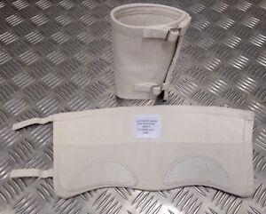 Genuine-British-Ceremonial-White-Gaiters-Anklets-Cotton-Canvas-Un-Issued