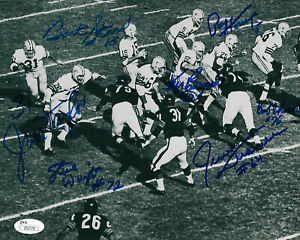 PACKERS-Bart-Starr-Jim-Taylor-Paul-Hornung-signed-8x10-photo-JSA-AUTO-Autograph