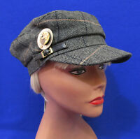 Womens Hat Cap August Accessories Black Conductor Silver Moon Pin One Size