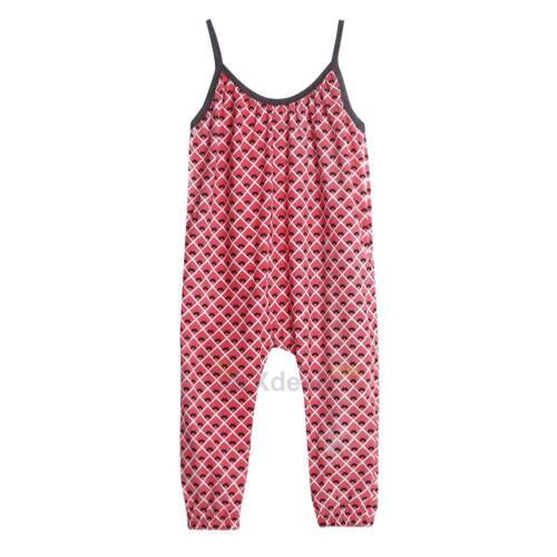 Toddler Kids Baby Girls Summer Strap Romper Jumpsuit Harem Pants Outfit Set Lot