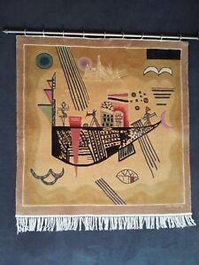 """Wandteppich """"Kandinsky Motiv"""", handgeknüpft, Seide auf Baumwolle, 92 x 92 cm"""