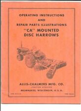 Allis Chalmers Ca Mounted Disc Harrows Operating Instructions Manual