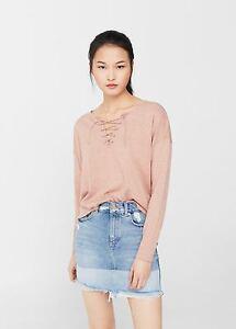 Mango-Braided-Cord-Sweater-Pink-Size-M-LF077-EE-18