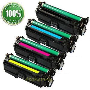 4x Toner Cartridge Set For HP 507A M551 CE400A CE401A CE402A CE403A USA SELLER!