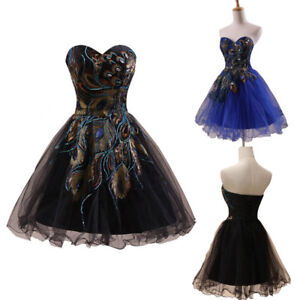 Details about US Black Short Homecoming Prom Dress Formal Mini Ball Gown  Cocktail Party Dress