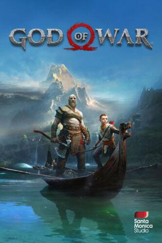 NEW God of War 2018 Game Poster Atreus 11x17 13x19 Kratos