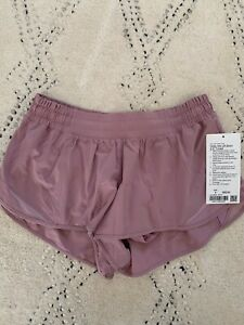 "NWT Sold-Out ""Pink Taupe"" Hotty Hot Shorts Sz 8 Lined Lululemon Women 2.5"" LR"