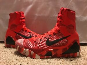 Kobe 9 Elite Christmas.Details About Nike Kobe Ix 9 Elite Christmas Size 9 5 Bright Crimson Black White