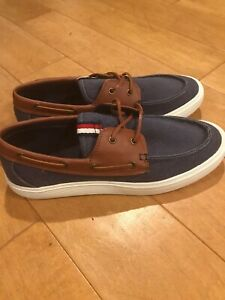 Tommy-Hilfiger-Mens-Nautical-Navy-Boat-Shoes-Size-12-Make-An-Offer