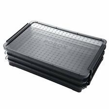 Hipiwe 3 Deck Clear A4 File Box Stackable Portable Project Case Desk File C