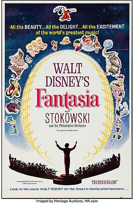 Movie Poster Fantasia 1940 1963 International 27 X41 Vf 8 0 Walt Disney Ebay
