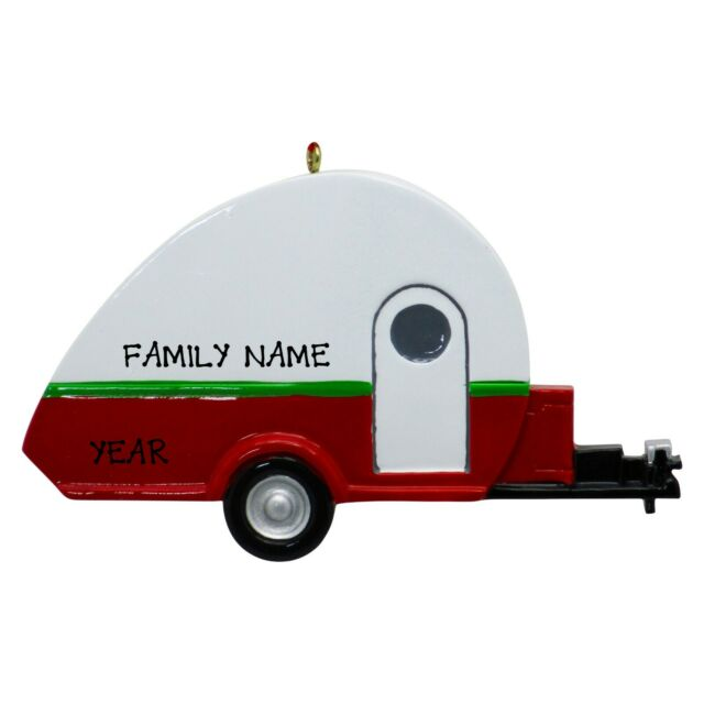 RV Camper Personalized Christmas Tree Ornament