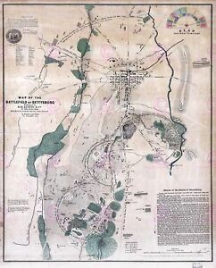 Map-Antique-USA-Civil-War-Battlefield-Gettysburg-Replica-Canvas-Art-Print