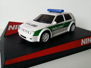 Scx-Scalextric-Slot-Ninco-50321-VW-Golf-Polizei-034-N-580