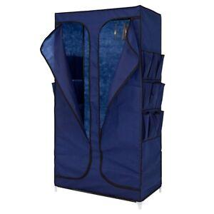 Kinbor 35 Portable Closet Storage Organizer Wardrobe Clothes Rack