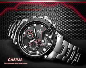 Casima fashion casual men steel watch classic wristwatch waterproof date ebay for Casima watches