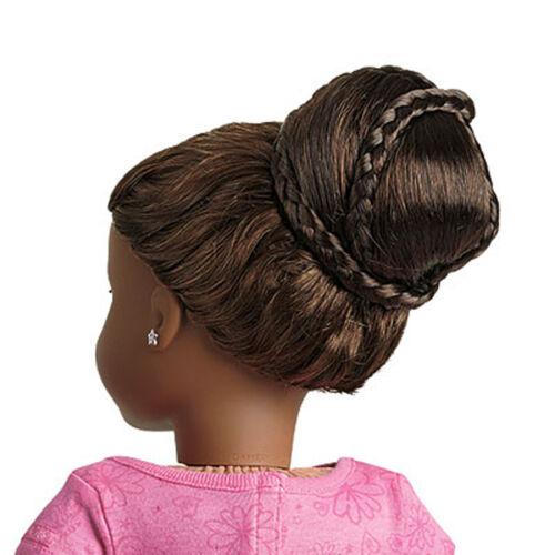 "American Girl MY AG CHIC BUN DARK BROWN for 18/"" Dolls Hair Extension Retired NEW"