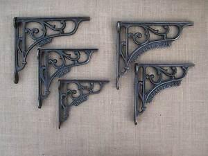 Cast-Iron-Shelf-Brackets-J-Duckett-amp-Son-GNER-Vintage-Victorian-Style-X1