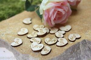 100 200 500 Streudeko Holz Herz Tischdeko Natur Hochzeit Dekoherzen