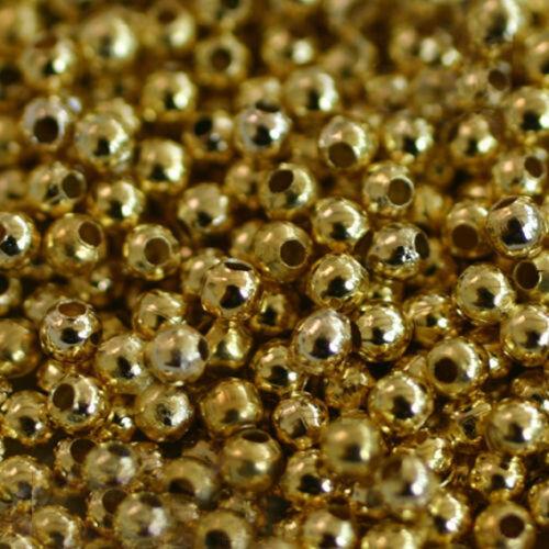 Hématite PERLES MINI SPACERS 3 mm BOULES Argenté TROU 1,5 mm Doré
