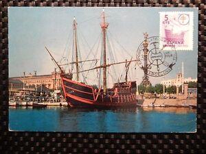 SPAIN-MK-1958-SCHIFFE-SAILING-SHIP-MAXIMUMKARTE-CARTE-MAXIMUM-CARD-MC-CM-a7838