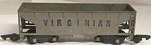 American-Flyer-No-632-Virginian-Die-Cast-2-Bay-Hopper-with-some-Issues