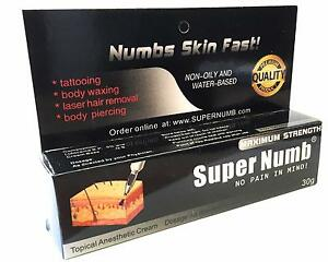 30g 600g super numb numbing cream numb tattoo piercings for Waxing over tattoo