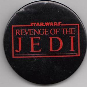 Original Rare REVENGE OF THE JEDI BUTTON