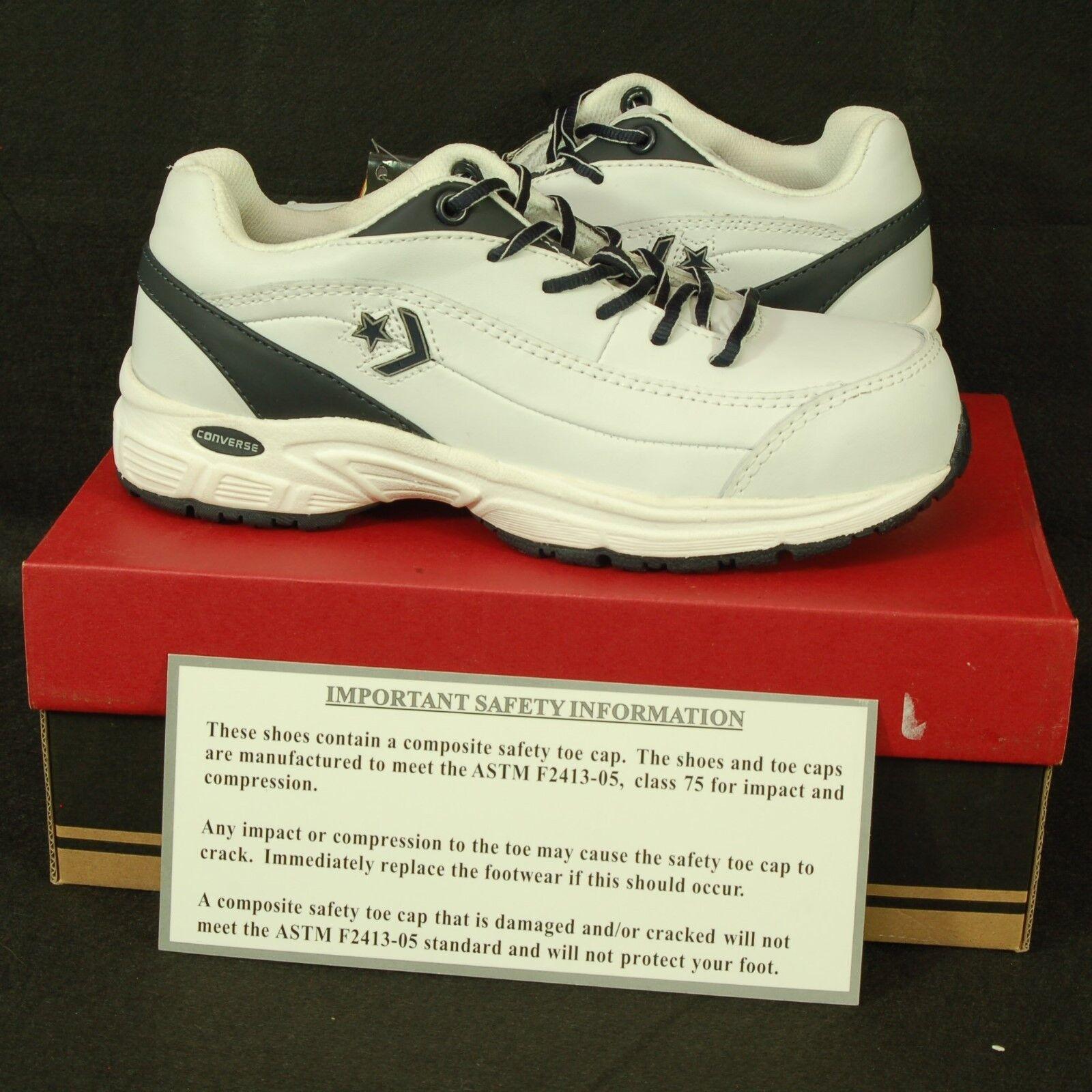 Converse cuero De blanco Puntera De cuero Acero Zapatos  para hombre 6 W Zapatillas De Trabajo Unisex C4500 e787cc