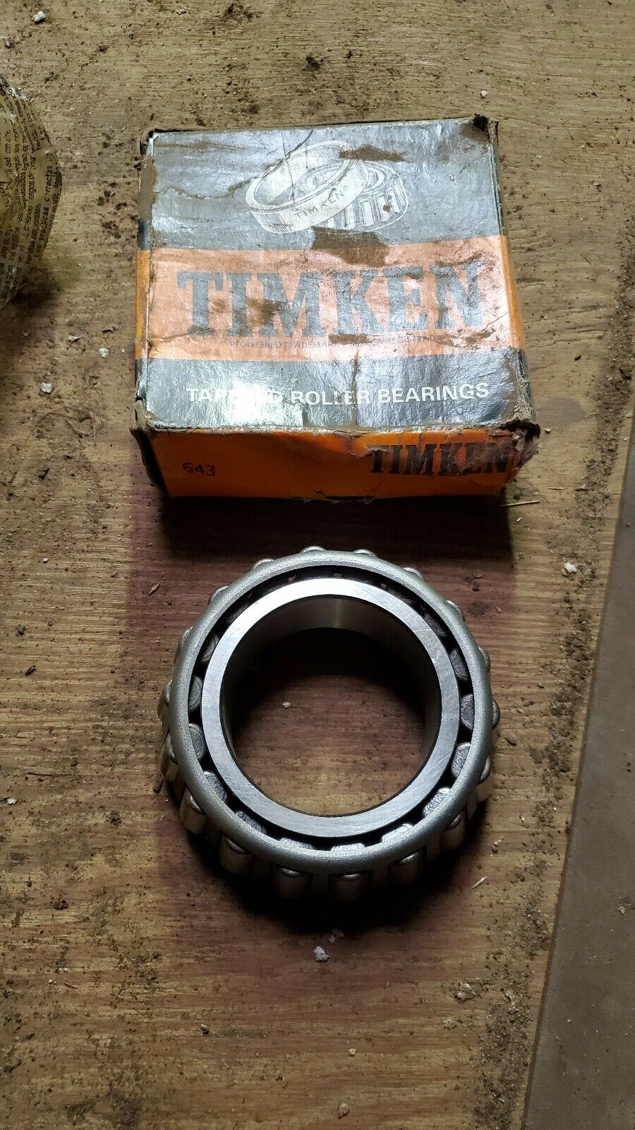 Timken 643 Tapered Cone and Rollers Bearing 3110-00-100-0663