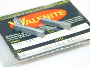 NEW-SURPLUS-4PCS-VALENITE-VDB-188RA-GRADE-VC125-CARBIDE-INSERTS