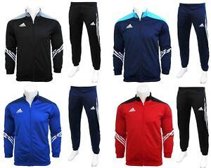 Adidas-Sereno-Full-Mens-Zip-Tracksuit-Jogging-Top-Bottoms-3-Stripe-Size-S-XXL